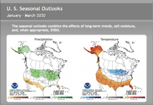 Noaa 3 Month forecast 1st qtr 2020